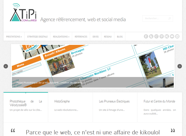 Ancien design du site