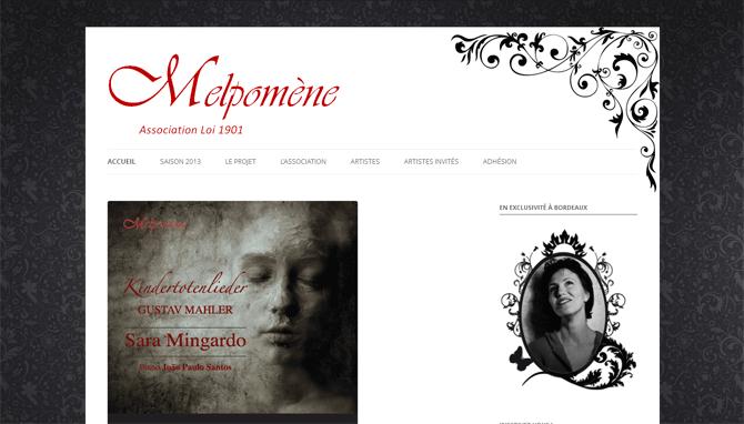Création du site web Melpomène