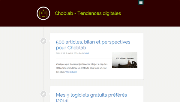 Choblab : refonte du blog