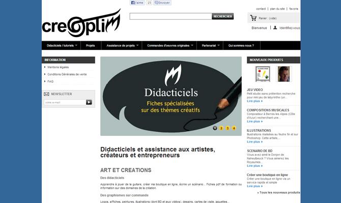 Didacticiels et assistance aux artistes , créateurs et entrepreneurs