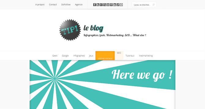 Nouveau design pour le TiPi's blog